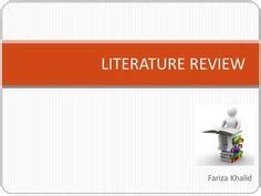 The Literature review - University of Exeter